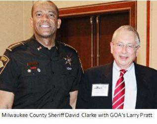 Sheriff Clarke and Larry Pratt