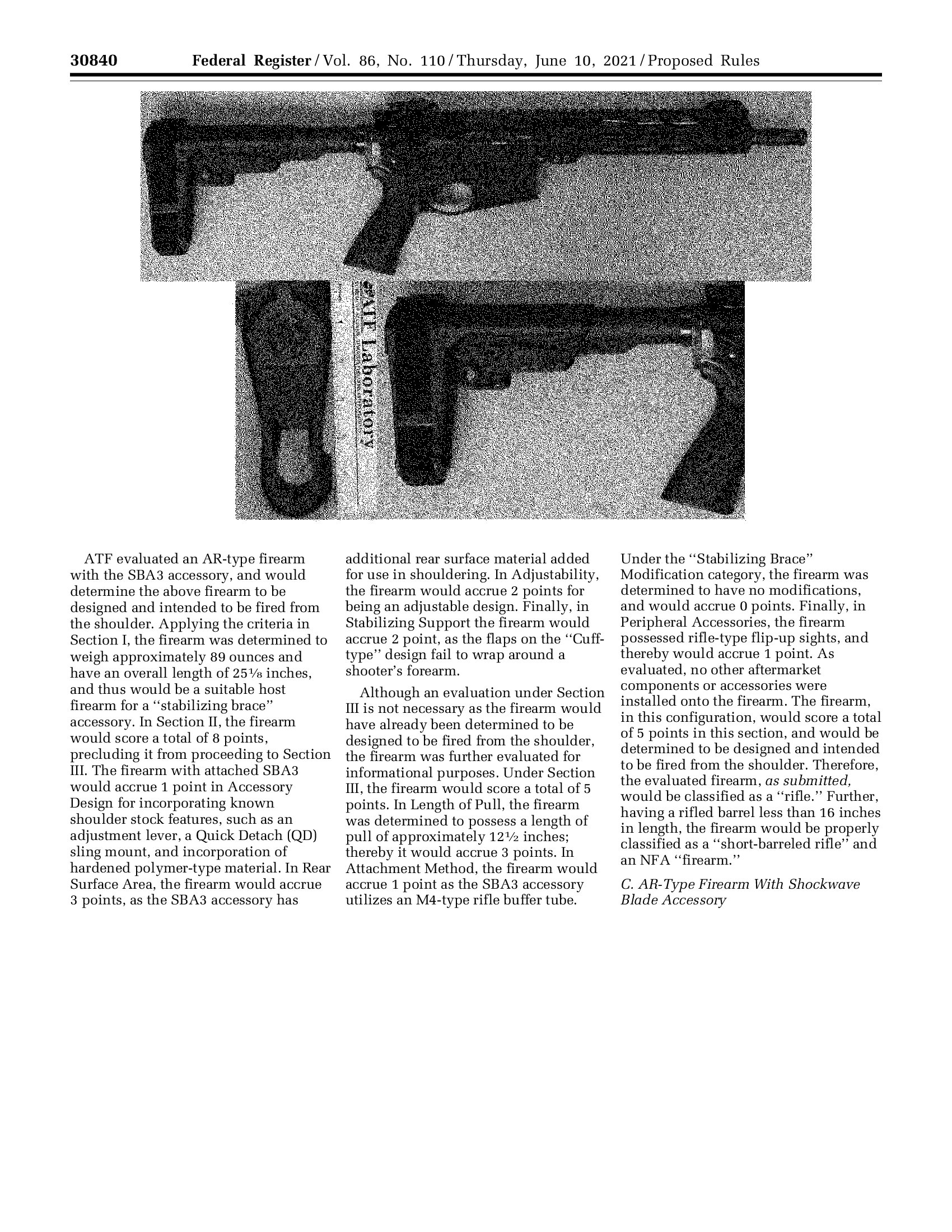 Incorporates shoulder stock design feature(s) - Example Image
