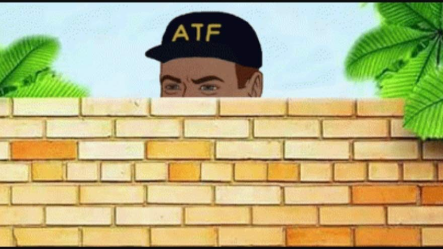 Meme: ATF agent peaking over wall
