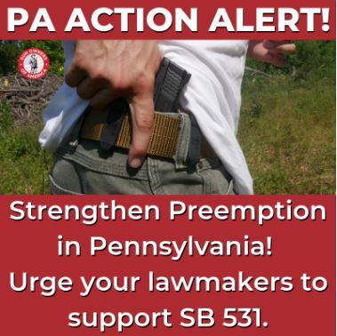 PA Senate Trying to Stall Legislation Strengthening