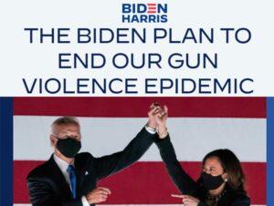 Screenshot of Joe Biden's election website