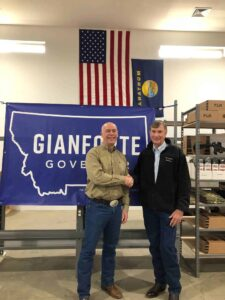 GOA's Tim Macy with Montana Governor Greg Gianforte