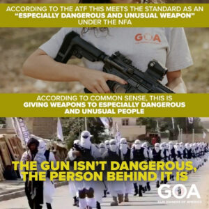 The gun isn't dangerous, the person behind it is