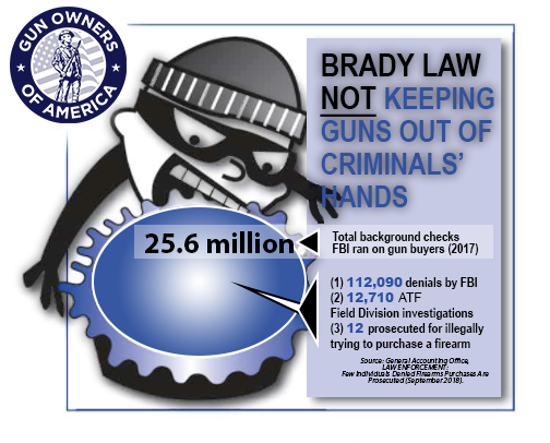 The Brady law is not keeping guns out of criminals' hands